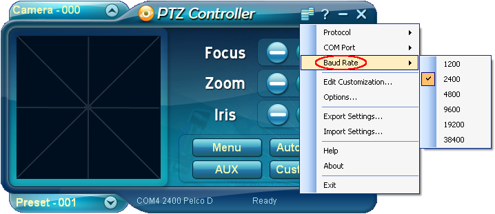 Basic setting for ptz controller blog - How to determine the baud rate of a serial port ...