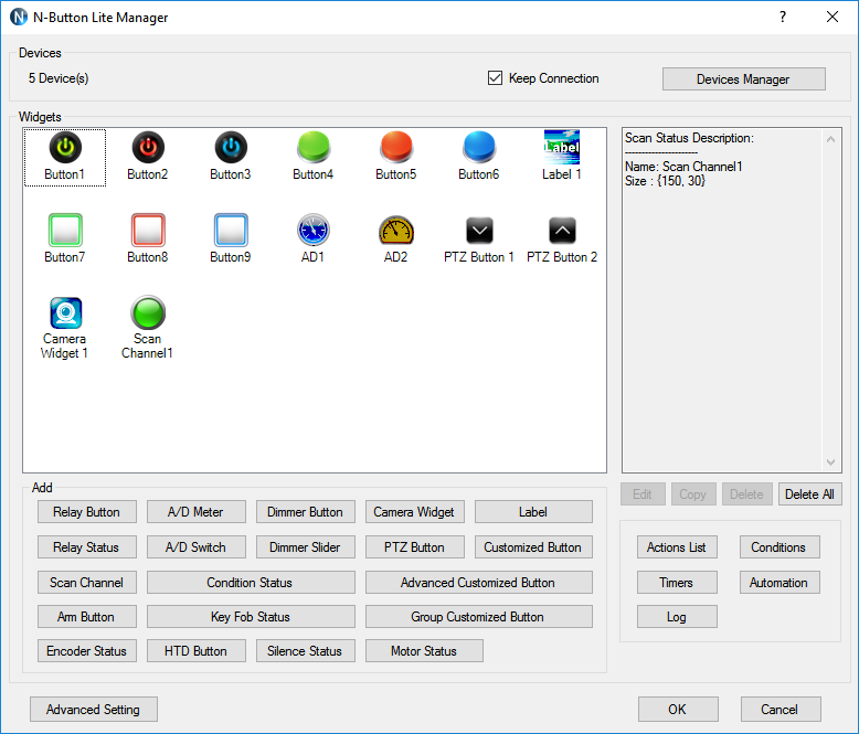 Click to view N-Button Lite 1.9.6.1408 screenshot