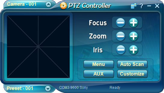 Click to view Free PTZ Controller Tool 4.0.2 screenshot