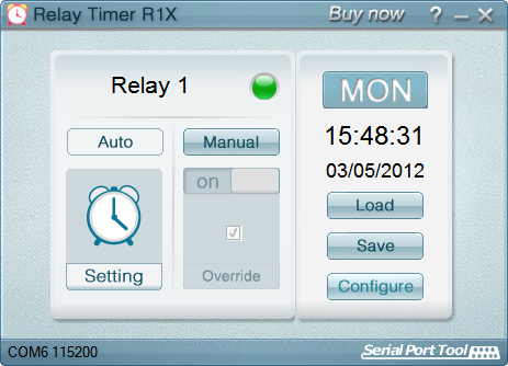 Click to view Relay Timer R1X 2.5.1 screenshot