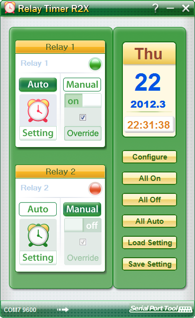 Relay Timer R2X full screenshot