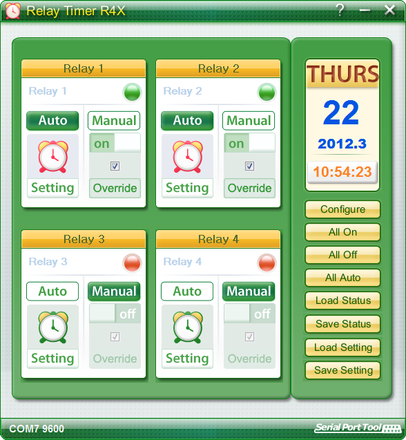 Click to view Relay Timer R4X 2.4.0.1084 screenshot