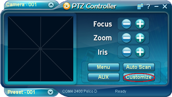 PTZ Controller Customize