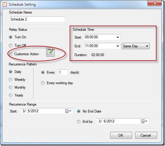 Relay Timer R8X - Schedule Setting