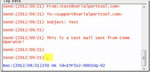 Comm Operator - SMTP End Message