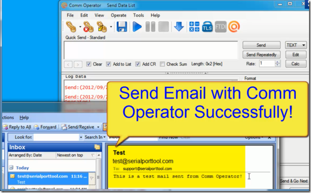 Comm Operator - Test SMTP Successfully