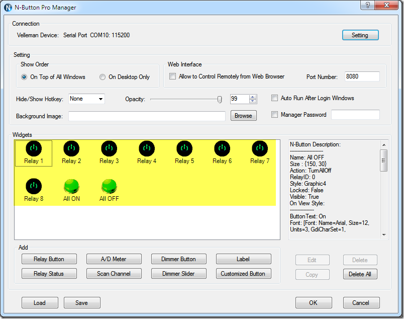 N-Button Pro Manger - Create Relay Buttons for K8090