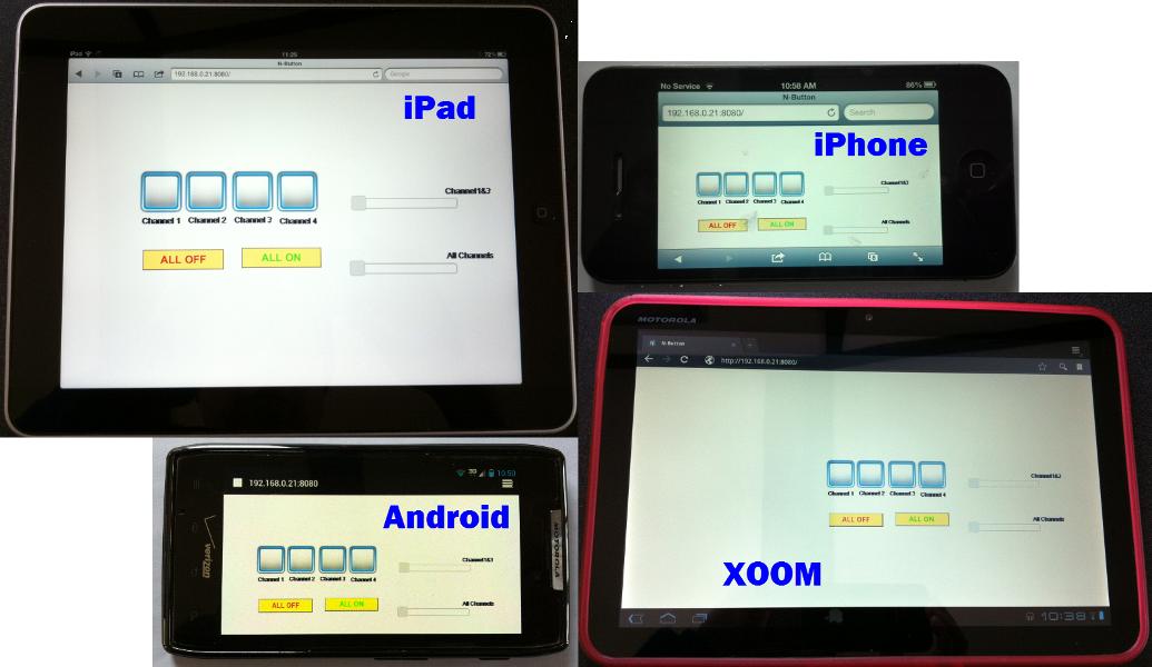 Remote Control DMX Dimmer Pack with iPad, iPhone, Android phone and Xoom.