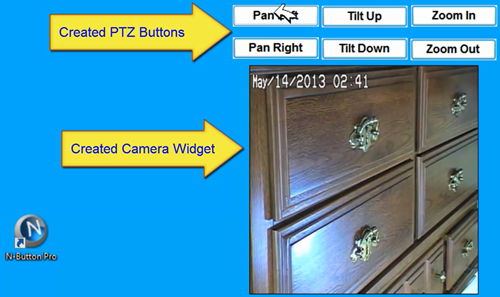 N-Button control Panasonic IP camera