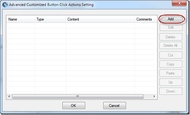 Click Actions Setting