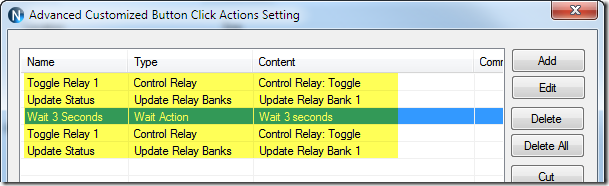 Sample Relay Actions