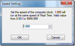 Time Travel - Speed Setting