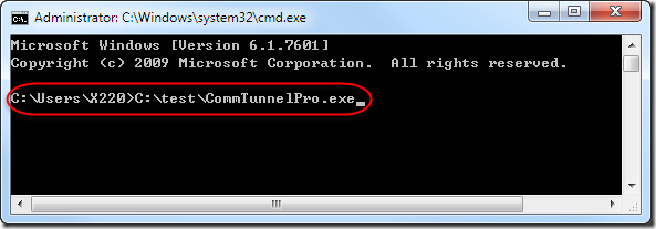 Comm Tunnel Pro - Command Line