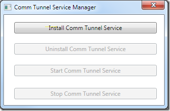 Comm Tunnel Service Manager