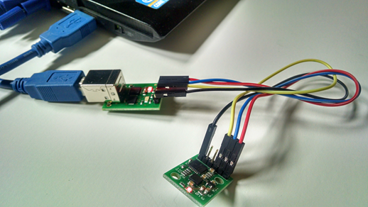 Connect USB-I2C with CMPS11 to Computer