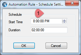 N-Button Automation Schedule Setting