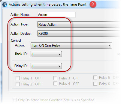 N-Button Automation Control Action for Time Point rule