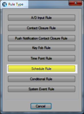 N-Button Automation Rule - Shedule Rule