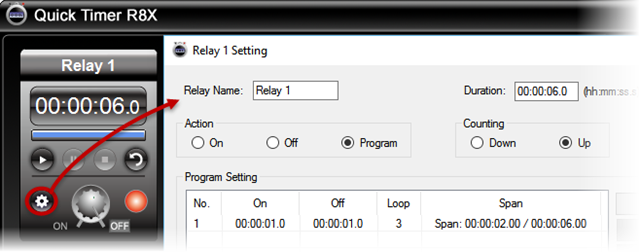 Quick Timer R8X Software - Setting for Auto Control