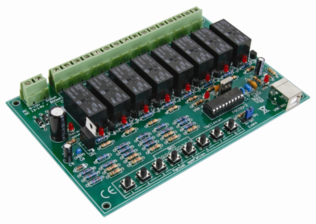 Velleman VM8090/K8090 USB Relay Card