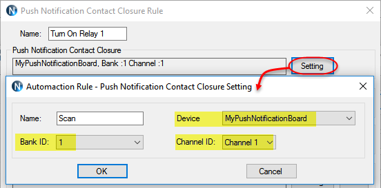 N-Button - Automation - Push Notification Rule Setting1