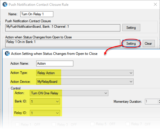 N-Button - Automation - Push Notification Rule Setting2
