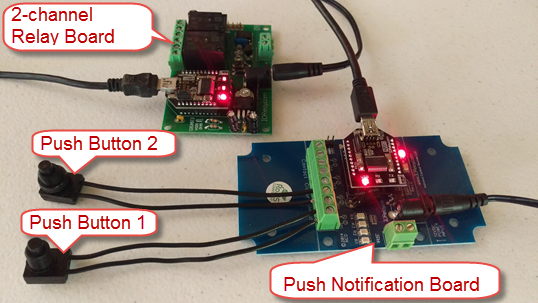 Relay Board and Push Notification Board