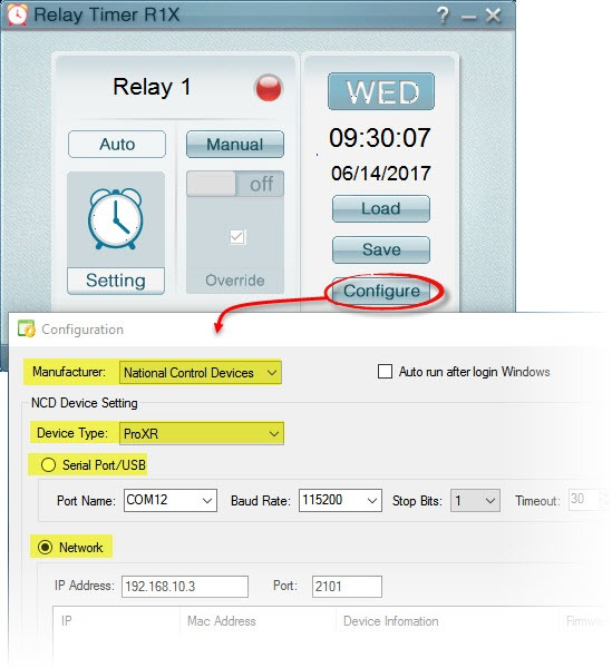 Relay Timer R1X - Configuration