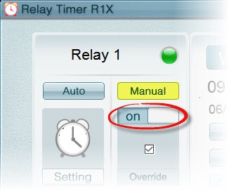 Relay Timer R1X - Control Relay Manually
