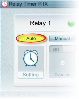 Relay Timer R1X - Switch to Auto Control Mode