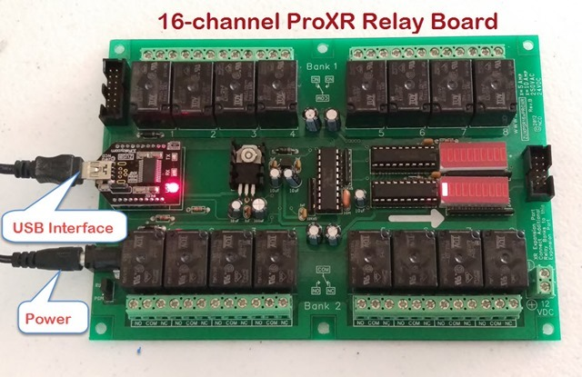 16-channel ProXR Relay Board