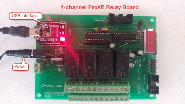 4-channel ProXR Relay Board